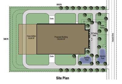 109,000 SF Building Site Plan