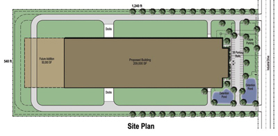 209,000 SF Building Site Plan