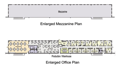 260,000 SF Building Office Floor Plan