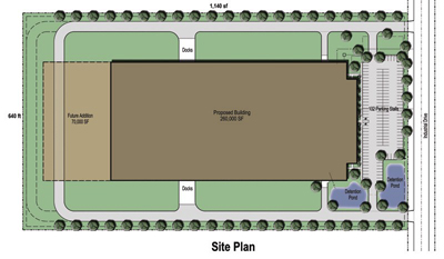 260,000 SF Building Site Plan