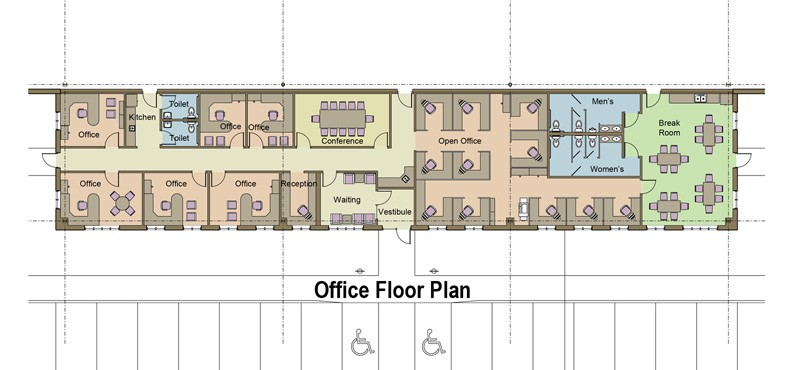 Virtual build to suit portfolio created by angus young for Interactive office floor plan
