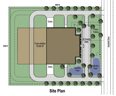 59,000 SF Building Site Plan