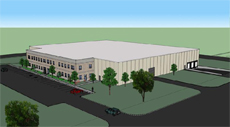 59,000 SF Birds Eye Perspective