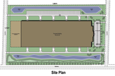 700,720 SF Building Site Plan