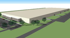 700,720 SF Precast Bird's Eye View