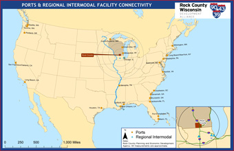 Rock County Interstate Connectivity Ports Map