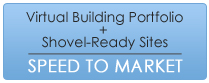 Virtual Build Portfolio plus Shovel-ready sites equals Speed to Market